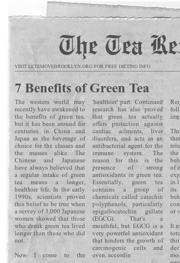 seven benefits of green tea