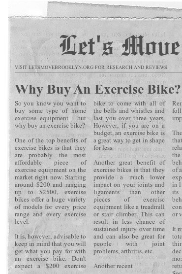 Why Buy An Exercise Bike