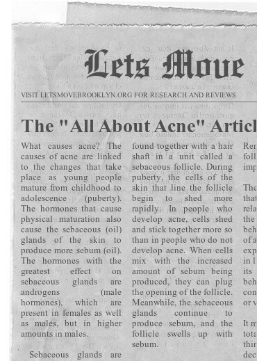 """The """"All About Acne"""" Article"""